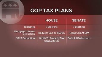 How would the Senate tax plan affect middle class residents?