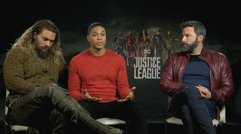 "Ray Fisher, Ben Affleck & Jason Momoa for ""Justice League"""