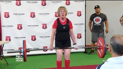PBS NewsHour -- How this 72-year-old weightlifter is lifting expectations