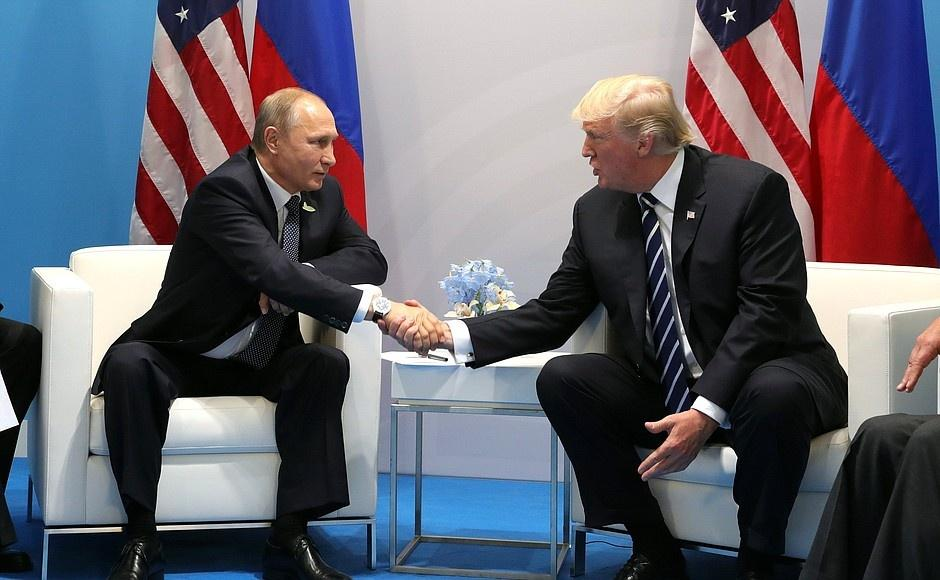 Trump and Putin have first face-to-face meeting