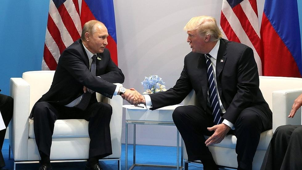Trump and Putin have first face-to-face meeting image