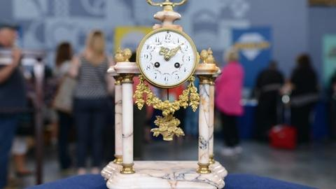 Antiques Roadshow -- Appraisal: European Marble & Brass Mantel Clock, ca. 1880