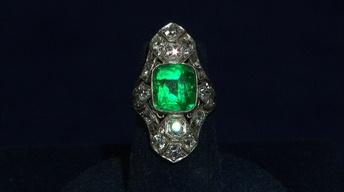 S21 Ep16: Appraisal: Art Deco Emerald & Diamond Ring