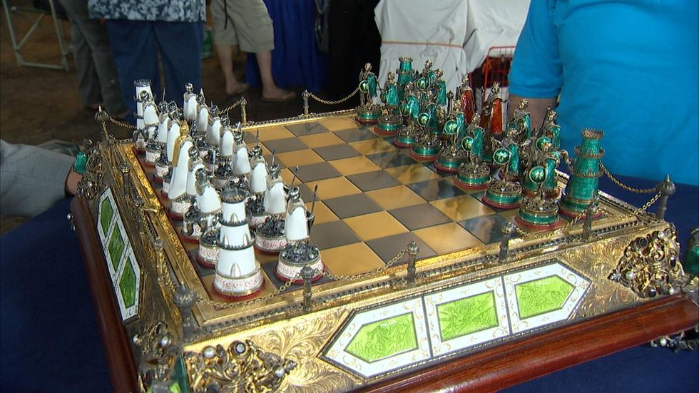 Appraisal: Austro-Hungarian Chess Set, ca. 1900 image
