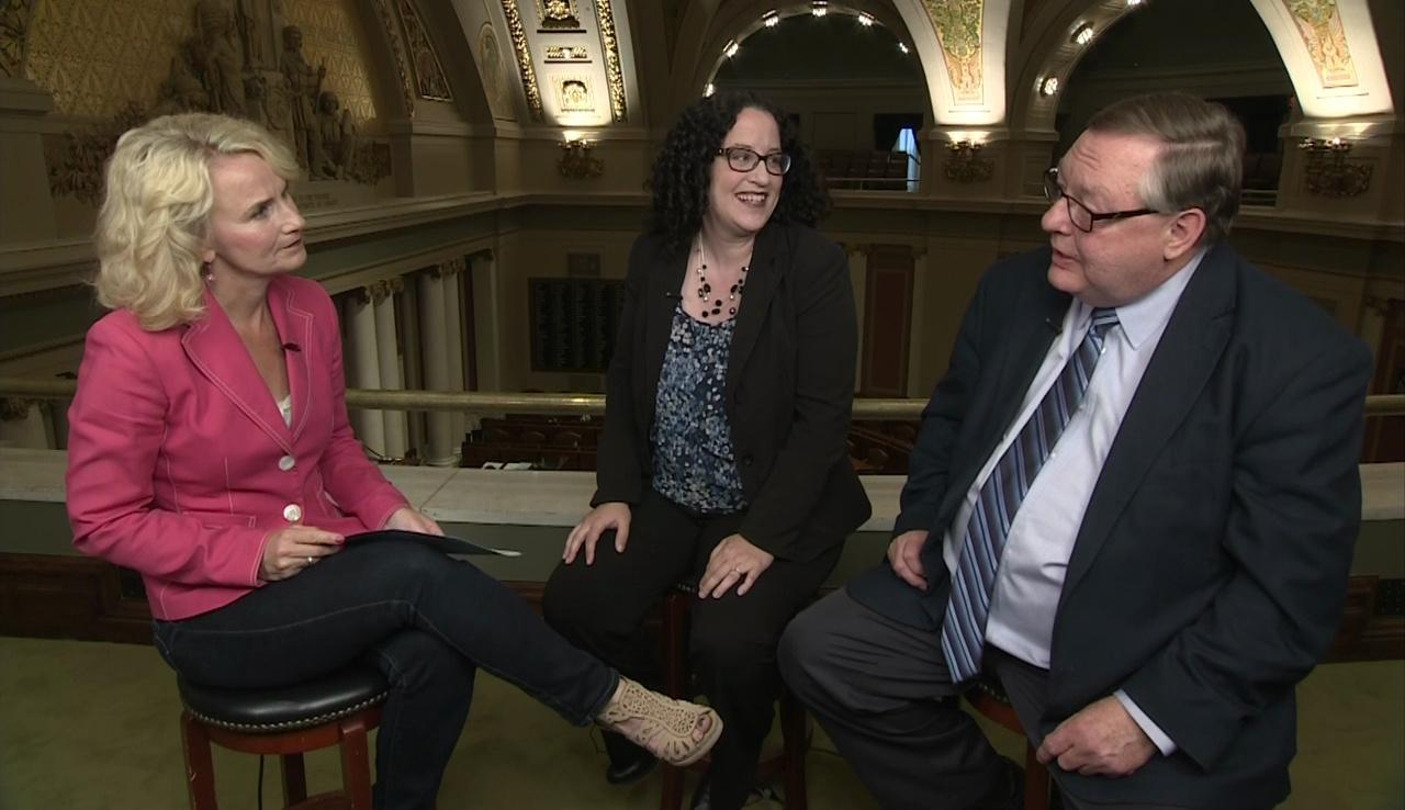 Greater Minnesota reporters on the session