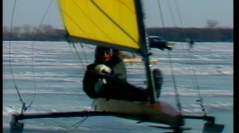 Ice Sailing Lake Kampeska 1989