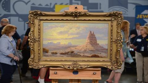 Antiques Roadshow -- S21 Ep26: Appraisal: H.L.A. Culmer Monument Valley Oil, ca.