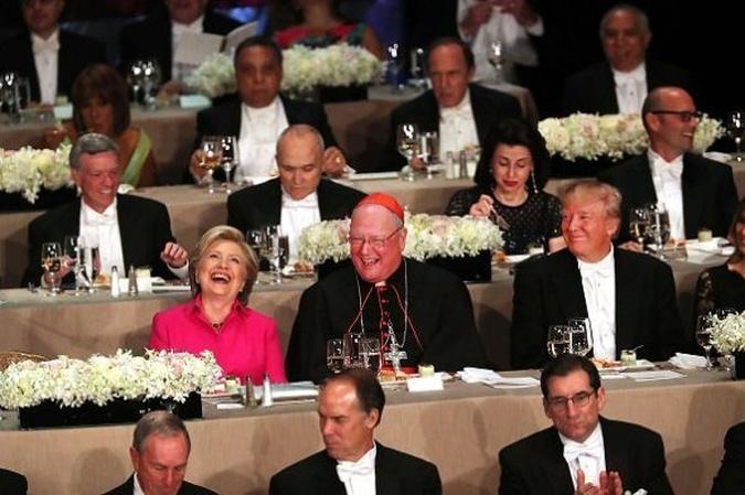 Clinton And Trump Trade Barbs At Charity Dinner