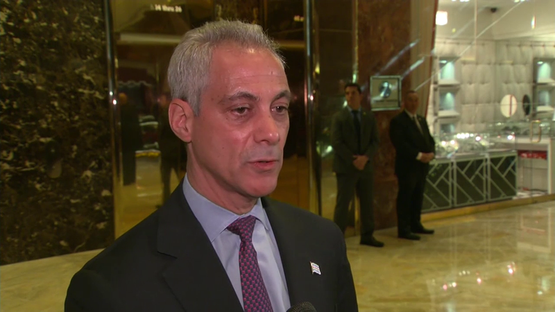Mayor Emanuel Meets with President-Elect Trump