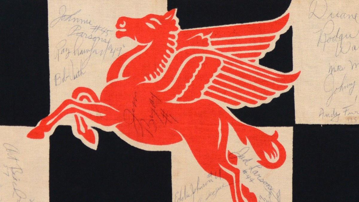 1958 Indy 500 Flag: Why did Jimmy Bryan sign the center?