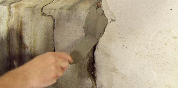 How to Repair a Crack in a Concrete Foundation