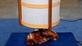 Image of Appraisal: 1978 George Nakashima Lamp with Letters