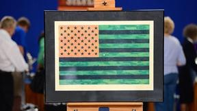 Image of Jasper Johns' Flag and the Moratorium Marches