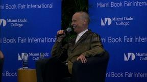 Image of John Waters on Hitchhiking Across America at Miami Book Fair