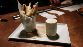 Image of Tempura Fried Okra with Ranch Ice Cream