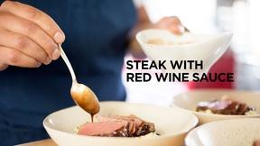 Image of Steak with Red Wine Sauce