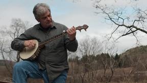 Image of Banjo maker Jim Hartel on the African heritage and banjo