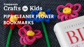 Image of Pipe Cleaner Flower Bookmarks