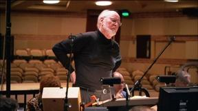 Image of John Williams Recording His Great Performances Theme Music
