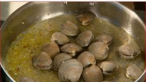 Image of Preparing Clams for Linguini with Clam Sauce