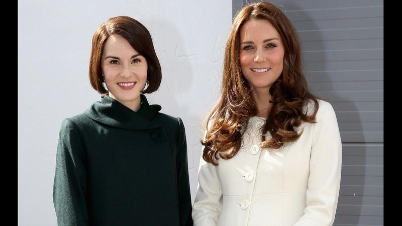 See the Duchess of Cambridge Visit the Set of Downton Abbey