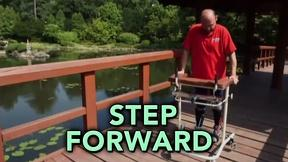 Image of Paralyzed man walks after transplanted cells