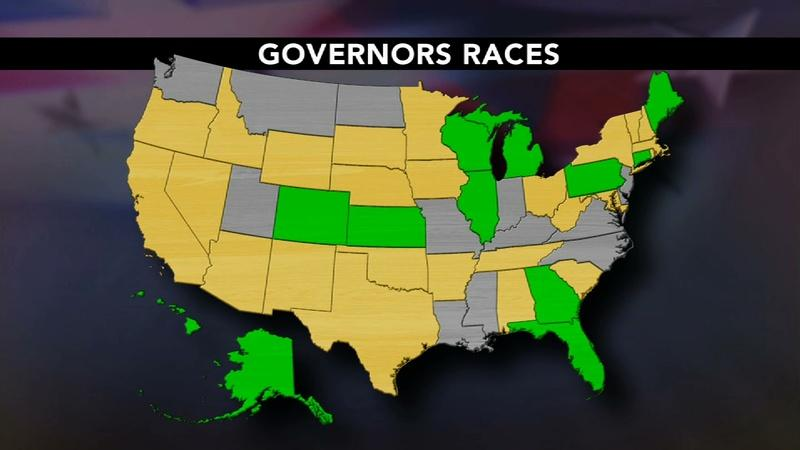 12 sitting governors at risk of losing in November