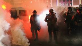 Image of Ferguson reeling from the effects of grand jury decision