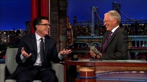 Image of Stephen Colbert leaves the character behind to play himself