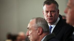 Image of NYPD officer killings expose rift between police and mayor