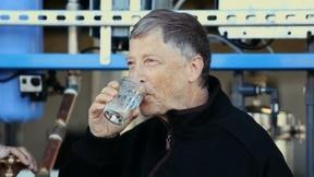 Image of NewsHour Shares: Bill Gates drinks water purified from waste