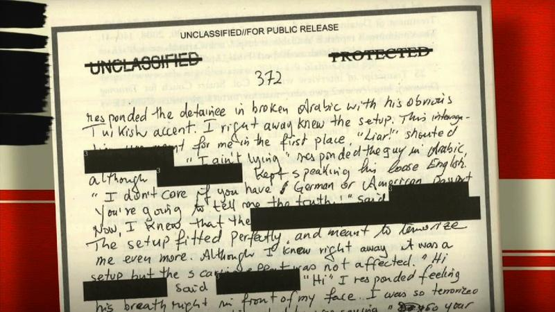 Detainee's diary describes what it's like to be interrogated