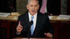 Image of Netanyahu urges more Iran sanctions, no deal in U.S. speech