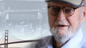 Image of Poet Lawrence Ferlinghetti laments changing San Francisco