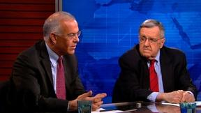 Image of Shields and Brooks on Harry Reid's retirement