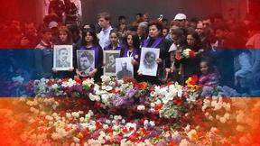 Image of Armenians remember victims 100 years since mass killings