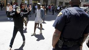 Image of Protests simmer, but Cleveland calm after cop's acquittal