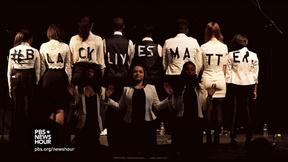 Image of Teens sing in support of Black Lives Matter