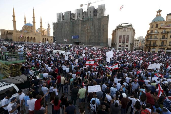 Thousands Take to Beirut Streets to Protest Government