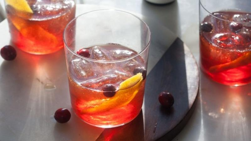 Serve Cranberry Old-Fashioned