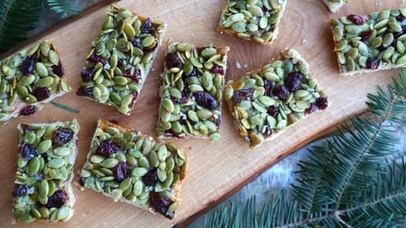Bake Salted Honey Cranberry Pumpkin Seed Bars