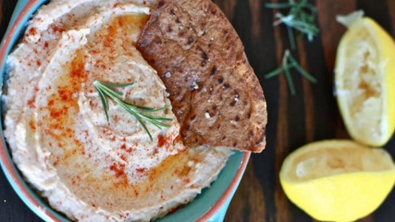 Make Creamy White Bean Dip with Pita Chips