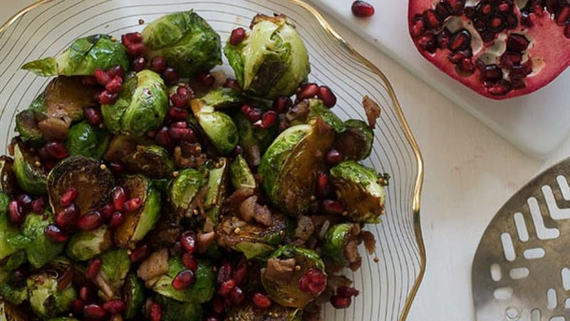 Brighten Up Brussels Sprouts with Pomegranate