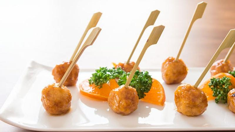 Prepare Orange Chicken Polpettine for Canapés