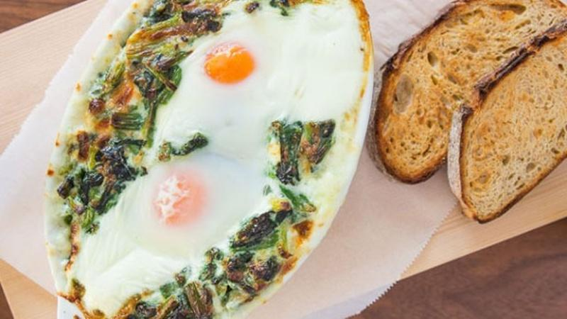 Make Baked Eggs in Creamed Spinach