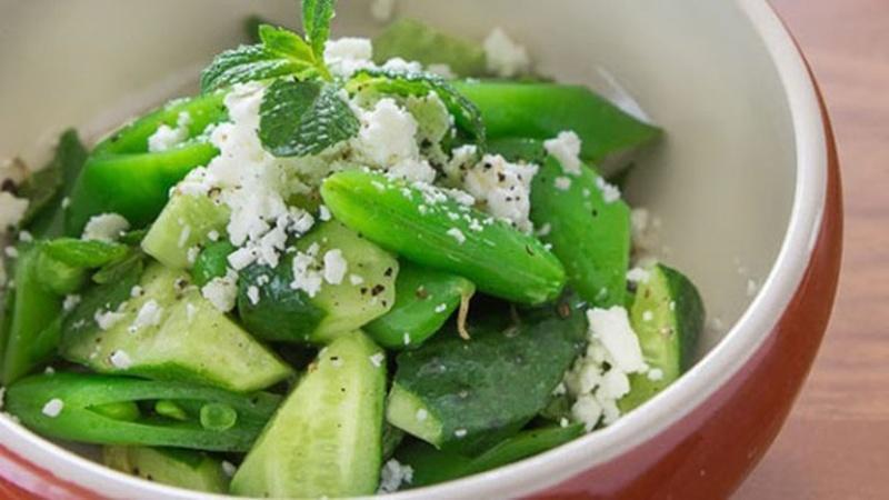 Prepare Cucumber Snap Pea Salad