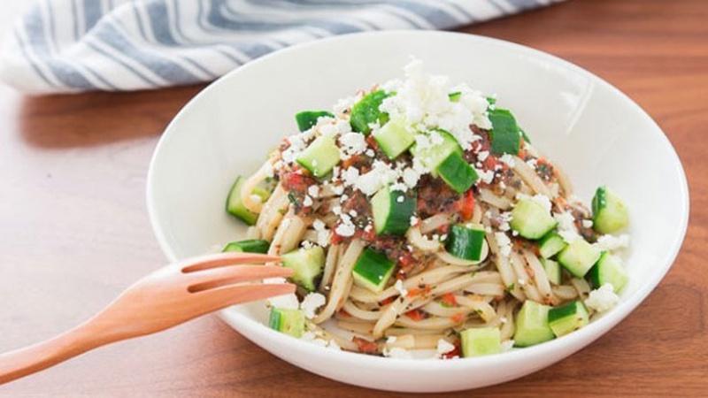 Prepare Mediterranean Udon Salad