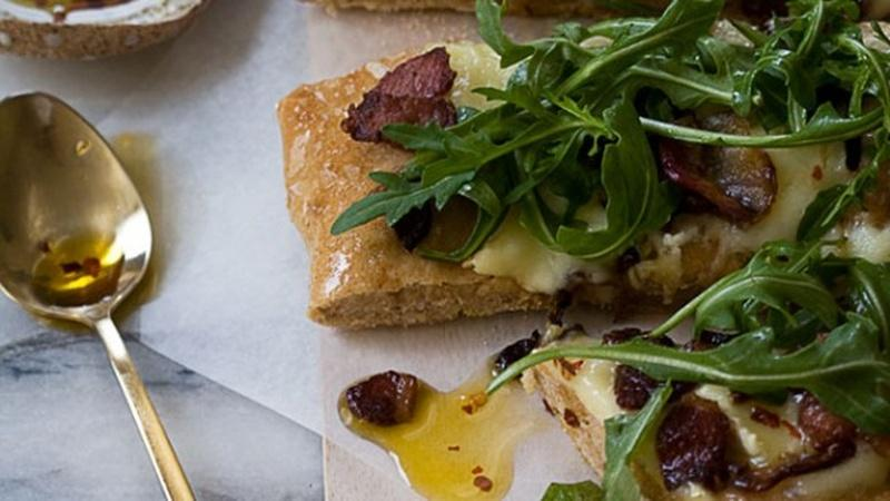 Kick Back with Spicy Pancetta Pizza