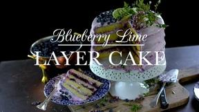 Image of Enjoy a Decadent Blueberry Lime Layer Cake