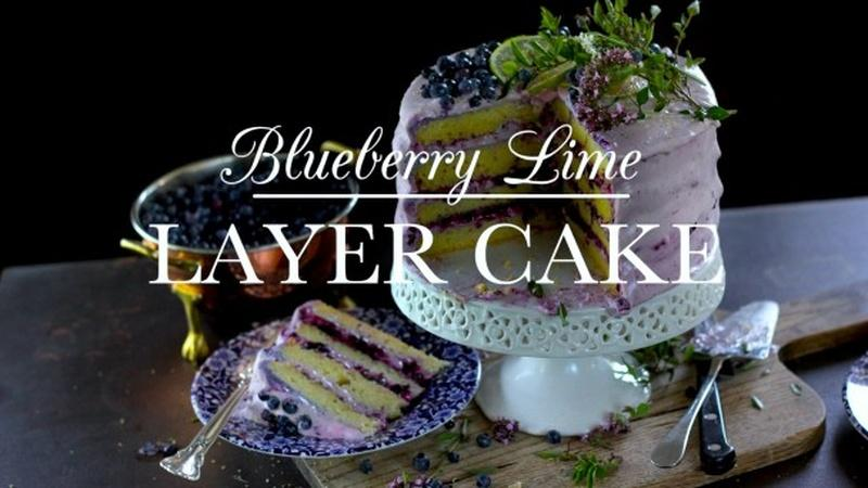 Decadent Blueberry Lime Layer Cake